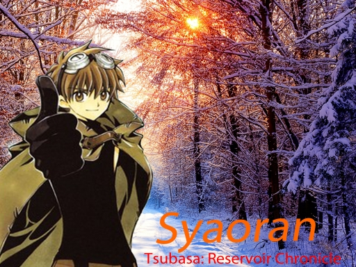 Syaoran in the snow