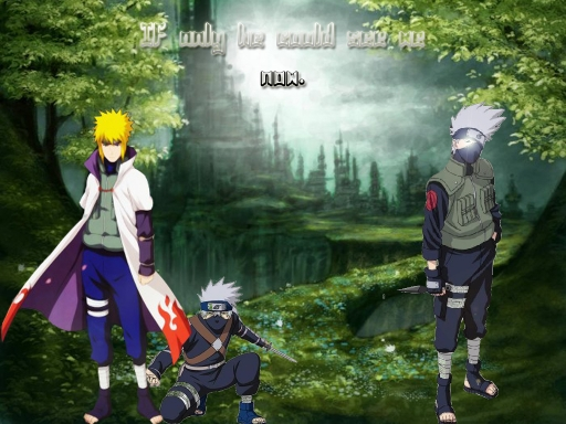 Minato and Kakashi (Background