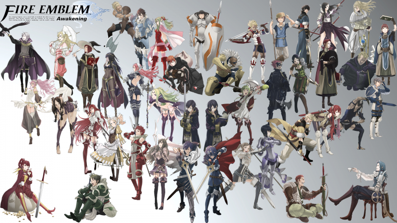 Fire Emblem Awakening All Char