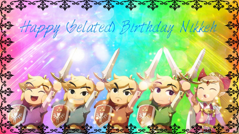 Link rainbow birthday cheer!
